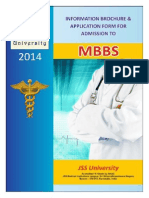 JSS University MBBS Information Bulletin