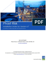 Phast Risk Installation Notes