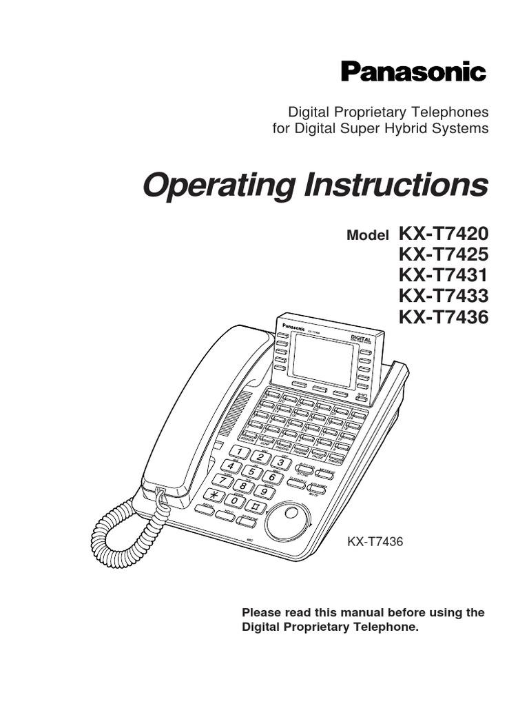 panasonic kx t7433 telephone telephony rh scribd com Panasonic Kx T7433 Manual Programming Panasonic Kx T7433 Manual Programming