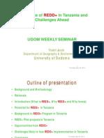 REDD+ in Tanzania - Seminar at the University of Dodoma