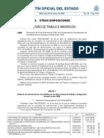 BOE - Subvenciones a los sindicatos del año 2009