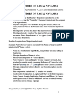 DISPOSITORS OF RASI & NAVAMSA TECHNIQUES OF CONJUNCTION OF PLANETS AND THEIR IMPLICATIONS