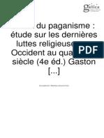 La Fin Du Paganisme Boisuoft 1903