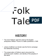 • the Word 'Folklore' Was First Used by the English