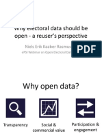 Niels Erik Kaaber Rasmussen  - Why electoral data should be open - a reuser's perspective