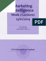 Week 2 - Marketing Intelligence