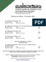 Horaires Novembre 2009 français