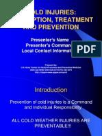 Cold Injuries Description