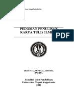 Handout Seminar Karya Tulis Ilmiah