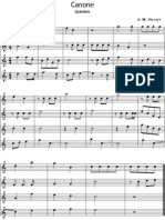 Mozart Canone Quarteto