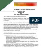 AI for Strategic Planning 2014 - London