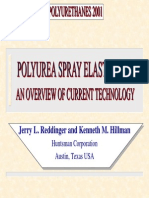 Polyurea Spray Elastomers an Overview of Current Technology