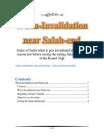 Wuzu Invalidation at Salah-End