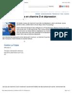 Un lien entre carence en vitamine D et dépression | PsychoMédia