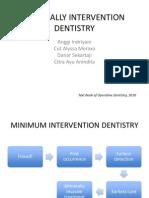 minimal intervention denstistry