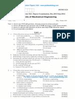 Elements of Mechanical Engineering Jan 2014