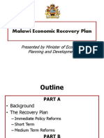 Malawi Economic Recovery Plan Edited 6th September 2012
