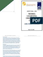 JOINT IDA - IESMODEL LIGHTINGORDINANCE(MLO)