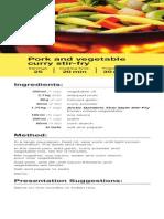 Recipe Pork Curry