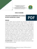 AVALIAÇÃO DO DESEMPENHO DE UM MODELO DE AQUECEDOR DE ÁGUA SUSTENTADO A LENHA.