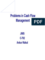 Problems in Cash Flow Management-L9
