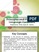 Principles and Purpose of Language Assessment