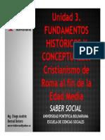 Unidad 3 Fundamentos históricos y conceptuales De Roma al fin de la Edad Media