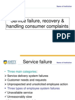 Service Failure Recovery