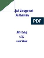 Project Management-Overview L1