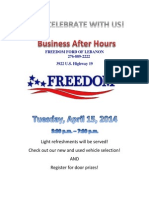 Freedom Ford After Hours Flyer