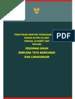 Pedoman Umum Rencana Tata Bangunan dan Lingkungan
