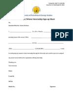 6 - Internship Sign-up Sheet