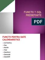 Functii t SQL