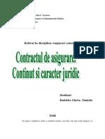Contractul de Asigurare.continut Si Caracter Juridic