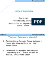 Theory of Automata Lecture 1