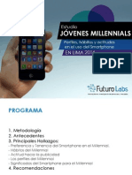 Presentación Estudio Millennials Smartphones - Futuro Labs - Resumen