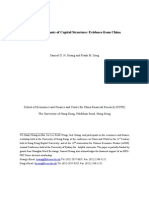 Determinants of Capital Structure in China
