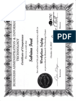 sabrina fout certificate - workplace safety