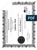 sabrina fout certificate - intro to windows 7