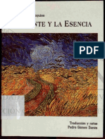 Santo Tomas - El ente y la Esencia (latin y español)