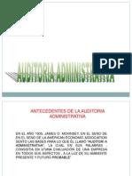 AUDITORIA ADMINISTRATIVA ANTECEDENTES