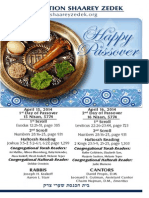 Yom Tov Pesach- First two days.