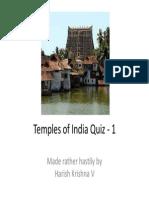 Temples of India Quiz - 1