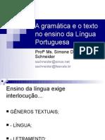 A gramática e o texto no ensino da