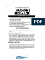 Archon Ultra - Quick Reference Card - PC