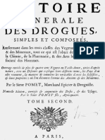 Histoire générale des drogues- Pierre Pomet