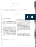 O'Malley, C. Los saberes morfológicos (1)