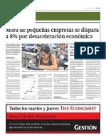 Mora pequeñas empresas se dispara_Gestión 14-04-2014