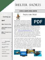 April, 2014 Newsletter