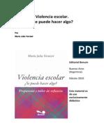 Violencia Escolar Maria Julia Visnieri